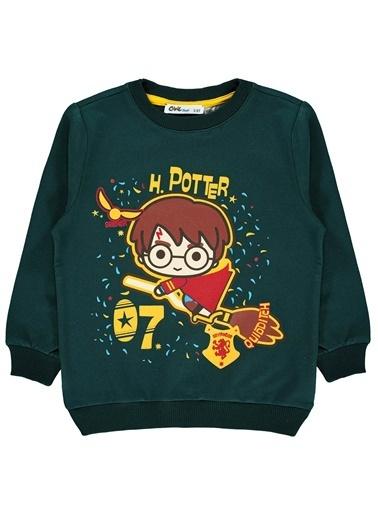 Harry Potter Erkek Çocuk Sweatshirt  Yeşil
